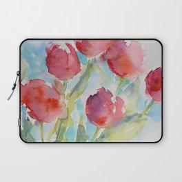Tulips (watercolor) Laptop Sleeve