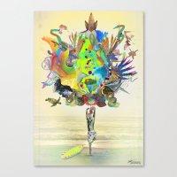 archan nair Canvas Prints featuring Aurantiaca by Archan Nair