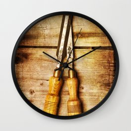 Old Chisels Wall Clock