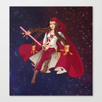 jedi Canvas Prints featuring Jedi Jade by Cola82