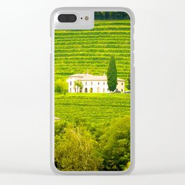 Vineyard Landscape Clear iPhone Case