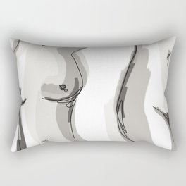 Nude Belly Rectangular Pillow