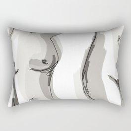 Nude Belly Rectangular Pillow