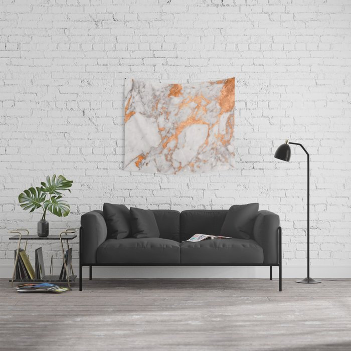 Copper Marble Wall Tapestry
