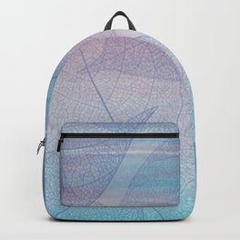 Painterly Pastel Leaves Abstract Backpack
