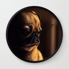 Cute Pug Dog Wall Clock