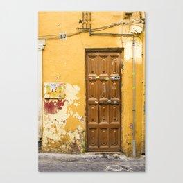Yellow Door #47 Malaga Canvas Print