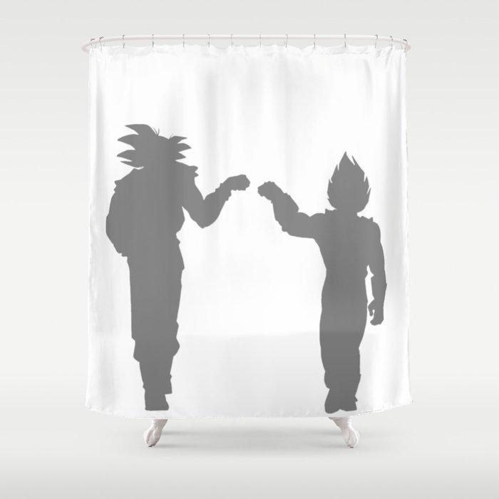 DBZ Goku Vegeta Shadows Shower Curtain