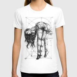 Lady on Table. Workbench. Yury Fadeev. T-shirt