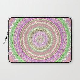 Pastel Pink Green Mandala Laptop Sleeve