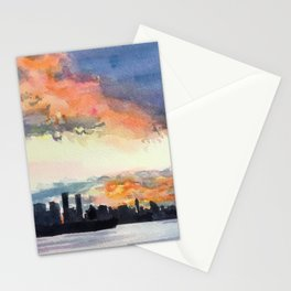 Vancouver sunset Stationery Cards