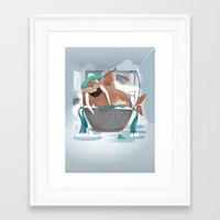 walrus Framed Art Prints featuring Walrus by Martin Bowyer