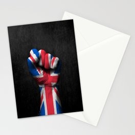 Union Jack Flag of The United Kingdom on a Raised Clenched Fist Stationery Cards
