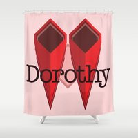 dorothy Shower Curtains featuring Dorothy by Winter Graphics
