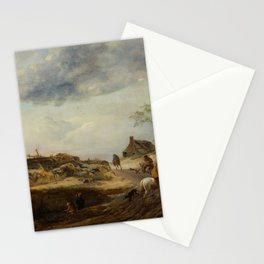 Circle of WOUWERMAN, PHILIPS (1619 Haarlem 1668) Rider by a mill. Circa 1640-50. Stationery Cards