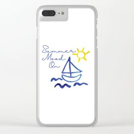 Summer Mood on design by #MahsaWatercolor Clear iPhone Case