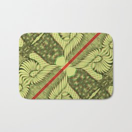 Diagonal Abstract Psychedelic Doodle 4 Bath Mat