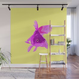 Purple Fish Wall Mural