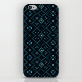 psychedelic upgrade ancient nordic embroidery iPhone Skin