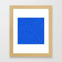 Abstract fractal blue and white distorted background Framed Art Print