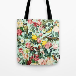 Floral and Birds III Tote Bag