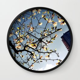here is spring Wall Clock