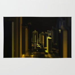 Cityscape at night Rug