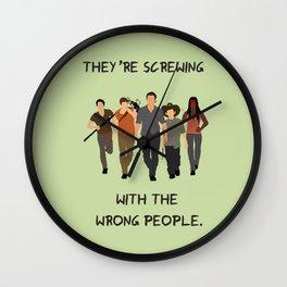 The Walking Dead - Carl, Rick, Michonne, Glenn, Daryl Wall Clock