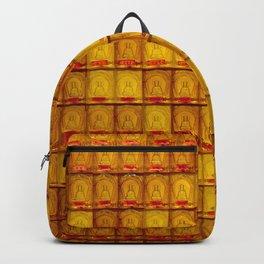 Orange Buddha glass plate Backpack