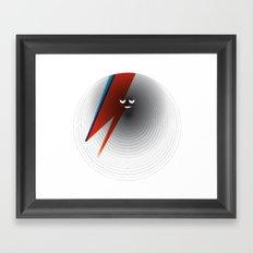 Round Bowie Framed Art Print