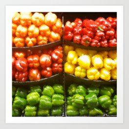 Bell Peppers from the Store Art Print