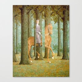 Rene Magritte / The blank check Canvas Print