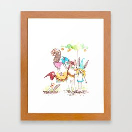 tiny tiny pony  Framed Art Print