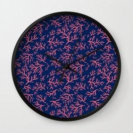 Flotsam Coral Wall Clock