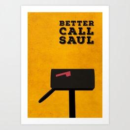 Better Call Saul Minimalist Poster Art Print