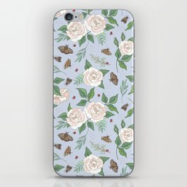 Roses, Moths and Ladybirds iPhone Skin