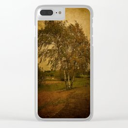 A Single Birch Tree Clear iPhone Case