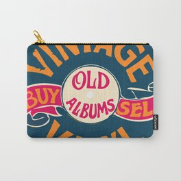 Vintage Vinyl, Old Album Carry-All Pouch