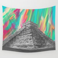 aztec Wall Tapestries featuring Aztec by Cale potts Art