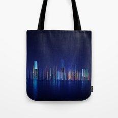 Miami Skyline Abstract Tote Bag