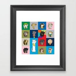 Lucky Cats - LOLcats Framed Art Print