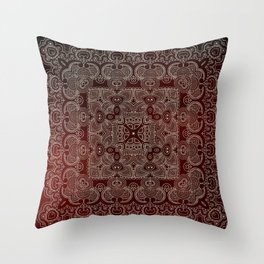 Silvery Doodle Throw Pillow