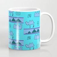 egypt Mugs featuring Egypt by FarrellArt