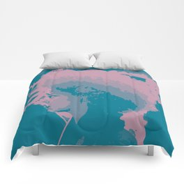 Afro Chic Mauve Teal Comforters
