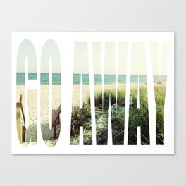 go away on a holiday Canvas Print