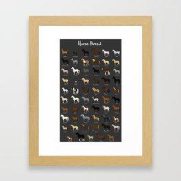 Horse breed Framed Art Print