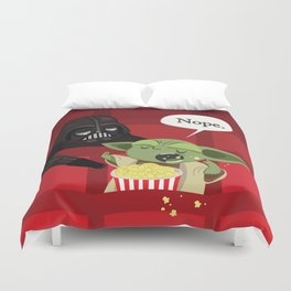 May I have some popcorn? Nope. Duvet Cover