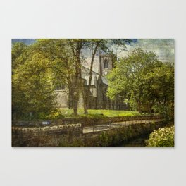 St Bartholomew's Church Marsden Canvas Print