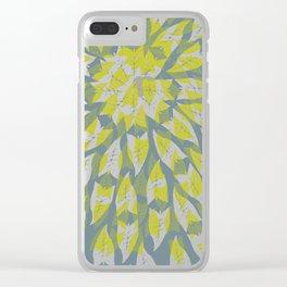 Leaf mandala // tropical leaf circular pattern Clear iPhone Case