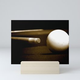 Pool Table-Sepia Mini Art Print